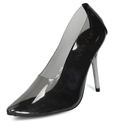 Julian289 Black Clear Lucite Pointed Toe Stiletto Heel - Wholesale Fashion Shoes