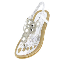 6817 SILVER WOMEN'S SANDAL - Wholesale Fashion Shoes