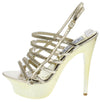 Olivia268 Gold Rhinestone Strappy Platform Stiletto Heel - Wholesale Fashion Shoes