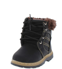 A1KM BLACK KIDS BOOT - Wholesale Fashion Shoes