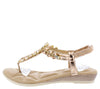 A28138 Champagne Women's Sandal - Wholesale Fashion Shoes