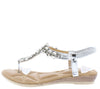 A28138 Silver Women's Sandal - Wholesale Fashion Shoes