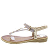 A2911 Gold Sparkle T Strap Slingback Thong Sandal - Wholesale Fashion Shoes