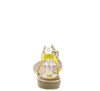 A2911 Yellow Sparkle T Strap Slingback Thong Sandal - Wholesale Fashion Shoes