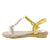 AA96 Yellow Heart Sparkle Open Toe T Strap Slingback Sandal