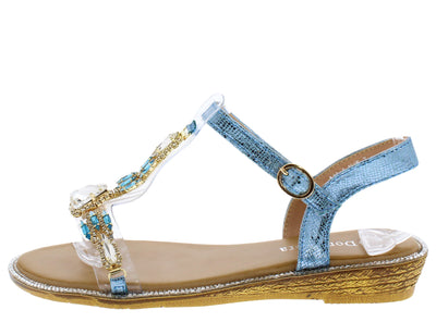 AA98 Blue Women's Sandal - Wholesale Fashion Shoes