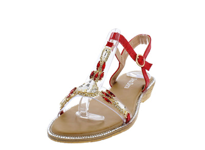 AA98 Red Women's Sandal - Wholesale Fashion Shoes
