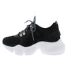 Sage1 Black Lace Up Chunky Lug Sole Sneaker Flat - Wholesale Fashion Shoes