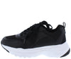 Tatum21 Black Multi Lace Up Chunky Sneaker Flat - Wholesale Fashion Shoes