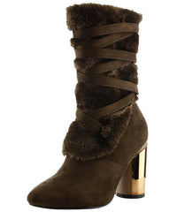 ADIRA20 BROWN WOMEN'S BOOT - Wholesale Fashion Shoes