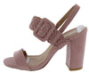 Alona54x Desert Rose Buckle Strap Open Toe Slingback Block Heel - Wholesale Fashion Shoes