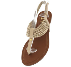 AMANDA25 BEIGE SANDAL - Wholesale Fashion Shoes