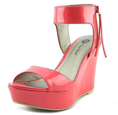 Savannah231 Melon Patent Women's Wedge - Wholesale Fashion Shoes