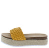 Amy01 Mustard Woven Open Toe Espadrille Slide Sandal - Wholesale Fashion Shoes
