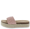 Amy01 Pink Woven Open Toe Espadrille Slide Sandal - Wholesale Fashion Shoes