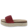 Amy01 Red Woven Open Toe Espadrille Slide Sandal - Wholesale Fashion Shoes