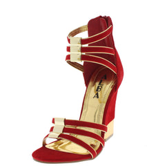 ANNA RED CUTE WEDGES - Wholesale Fashion Shoes
