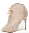 Ara349 Nude Fabric Women's Heel - Wholesale Fashion Shoes