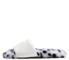 Archer710 White Faux Fur Flat Slide Sandal - Wholesale Fashion Shoes