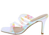 Aryana1 Hologram Multi Strappy Open Toe Slide Short Heel - Wholesale Fashion Shoes