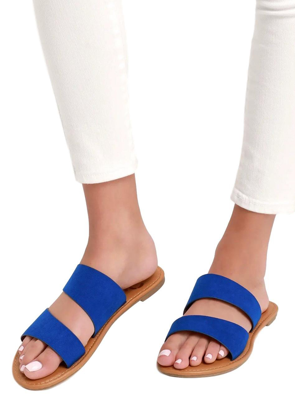 9b22ce965a3 Athena1389x Cobalt Blue Suede Pu Women's Sandal - Wholesale Fashion Shoes