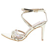 Ellis102 Gold Strappy Pointed Open Toe Ankle Strap Heel - Wholesale Fashion Shoes