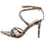 Ellis102 Leopard Strappy Pointed Open Toe Ankle Strap Heel