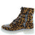 Ace Leopard Sparkle Lace Up Combat Boot