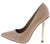 Action Nude Patent Pointed Toe Metallic Stiletto Heel