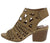 Addie03 Camel Laser Cut Open Toe Cut Out Stacked Heel