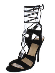 ADELE236 BLACK WOMEN'S HEEL - Wholesale Fashion Shoes