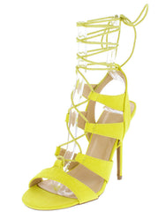 ADELE236 CHARTREUSE WOMEN'S HEEL - Wholesale Fashion Shoes