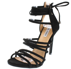 ADELINA1 BLACK WOMEN'S HEEL - Wholesale Fashion Shoes
