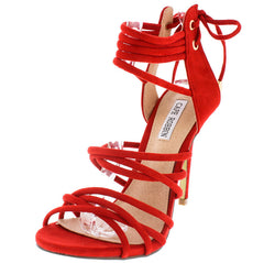 ADELINA1 RED WOMEN'S HEEL - Wholesale Fashion Shoes