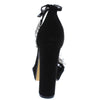 Affair Black Lucite Open Toe Rhinestone Strap Platform Heel - Wholesale Fashion Shoes