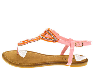 0108b5f12 Agata Pink Bead and Rhinestone Embellished Women s Sandal - Wholesale  Fashion Shoes