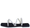 Della141 Black Square Open Toe Strappy Slide Sandal - Wholesale Fashion Shoes