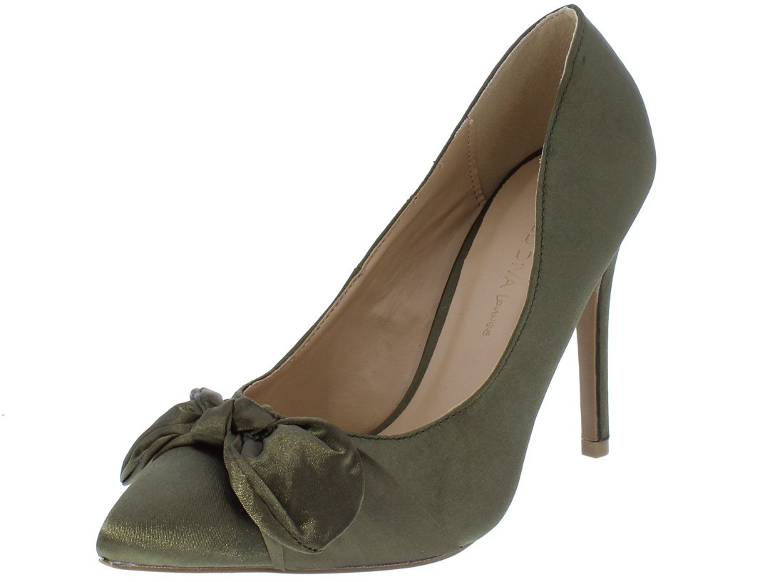 8b6d3162459 Akira212 Olive Green Knotted Bow Pointed Toe Stiletto Heel - Wholesale Fashion  Shoes