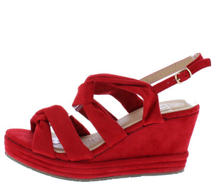487bd0b0bf Alba1 Red Dual Knotted Open Toe Slingback Platform Wedge - Wholesale  Fashion Shoes