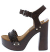 Alda01 Brown Pu Women's Heel - Wholesale Fashion Shoes