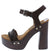 Alda01 Brown Pu Women's Heel