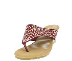 ALDO1705 MAROON WOMEN'S WEDGE - Wholesale Fashion Shoes