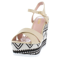 ALICE04 NUDE WOMEN'S WEDGE - Wholesale Fashion Shoes