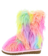 Alice11k Multi Faux Fur Pull On Kids Boot - Wholesale Fashion Shoes
