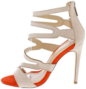 d6c4be9bf5ca Alika2 Nude Strappy Two Tone Open Toe Stiletto Heel - Wholesale Fashion  Shoes