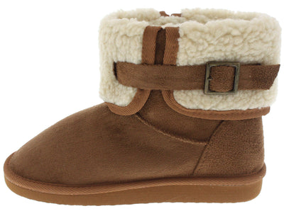 Aling23 Tan Faux Fur Short Boot - Wholesale Fashion Shoes