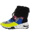 Alora Multi Faux Fur Cuff Lace Up Sneaker Boot - Wholesale Fashion Shoes