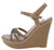 Althea3 Taupe Braided Strappy Open Toe Platform Wedge