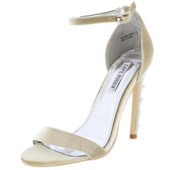 ALZA88 NUDE PEARL ACCENTS OPEN TOE ANKLE STRAP HEEL - Wholesale Fashion Shoes
