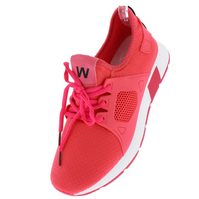 Amanda9 Coral Perforated Pull On Lace Up Sneaker Flat - Wholesale Fashion Shoes